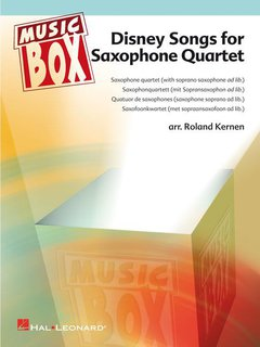 Disney Songs for Saxofone Quartet - für 4 Saxofone (SATB oder AATB)