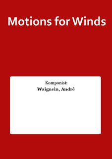 Motions for Winds