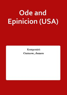 Ode and Epinicion (USA)