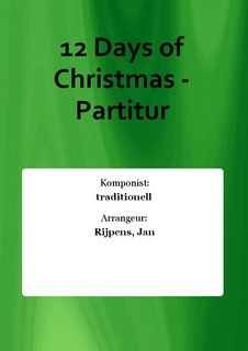 12 Days of Christmas - Partitur