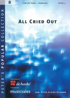 All Cried Out - Partitur