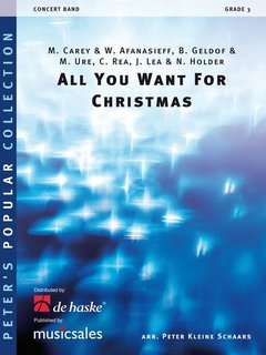 All You Want for Christmas - Partitur