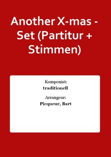 Another X-mas - Set (Partitur + Stimmen)