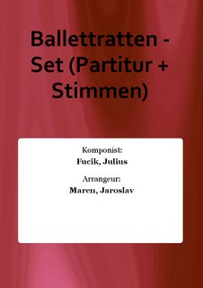 Ballettratten - Set (Partitur + Stimmen)
