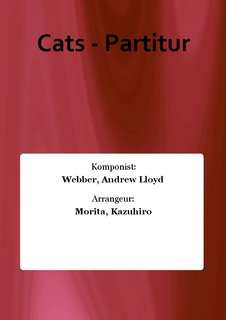 Cats - Partitur