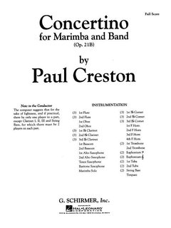 Concertino for Marimba and Band, Op. 21b - Partitur