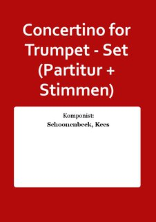 Concertino for Trumpet - Set (Partitur + Stimmen)