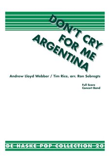 Dont Cry for Me Argentina - Set (Partitur + Stimmen)