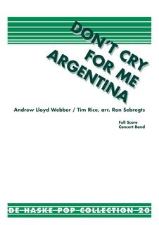 Dont Cry for Me Argentina - Partitur