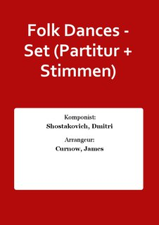 Folk Dances - Set (Partitur + Stimmen)