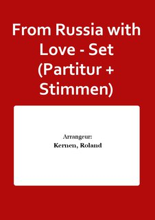 From Russia with Love - Set (Partitur + Stimmen)