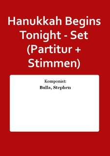 Hanukkah Begins Tonight - Set (Partitur + Stimmen)