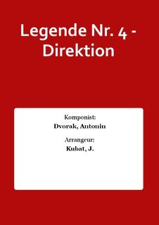 Legende Nr. 4 - Direktion