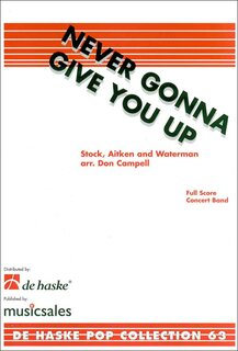 Never Gonna Give You Up - Set (Partitur + Stimmen)