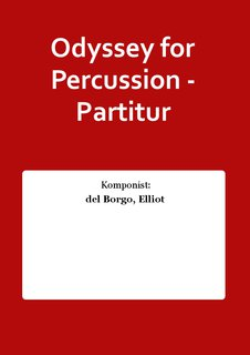 Odyssey for Percussion - Partitur