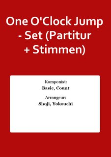 One OClock Jump - Set (Partitur + Stimmen)