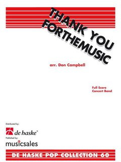 Thank You for the Music - Set (Partitur + Stimmen)