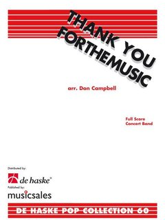 Thank You for the Music - Partitur