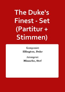 The Dukes Finest - Set (Partitur + Stimmen)