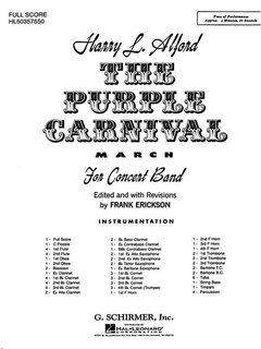 The Purple Carnival March - Partitur