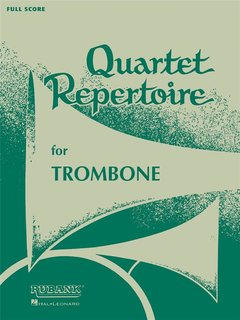 Quartet Repertoire for Trombone - Partitur