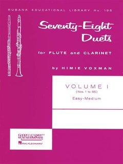 78 Duets for Flute and Clarinet - Vol. 1