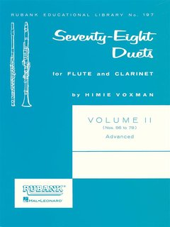 78 Duets for Flute and Clarinet - Vol. 2