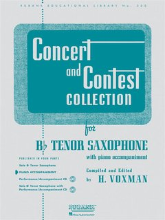 Concert and Contest Collection for Tenor Saxophone - Piano Acc...