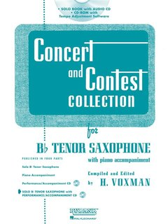 Concert and Contest Collection for Tenor Saxophone - Solo book+CD