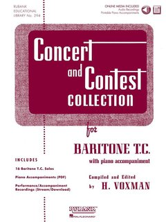 Concert and Contest Collection for Baritone T.C - Solo book+CD
