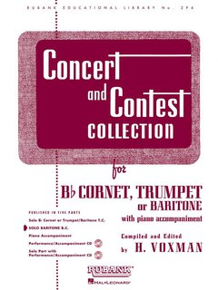 Concert and Contest Collection for Baritone/Euphonium - Solo book