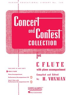 Concert and Contest Collection for Flute - Solo book