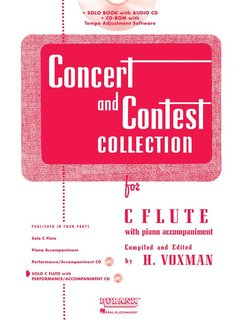 Concert and Contest Collection for Flute - Solo book+CD