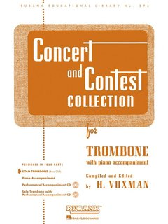 Concert and Contest Collection for Trombone - Solo book