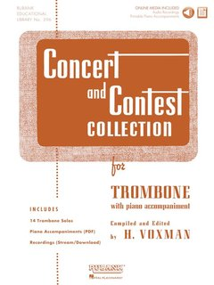 Concert and Contest Collection for Trombone - Solo book + CD