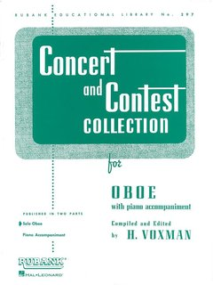 Concert and Contest Collection for Oboe - Solo book