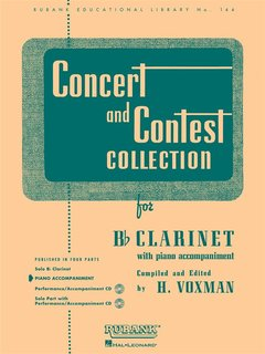 Concert and Contest Collection for Clarinet - Piano Accompaniment