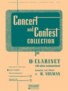Concert and Contest Collection for Clarinet - Solo book