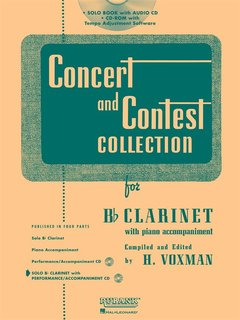Concert and Contest Collection for Clarinet - Solo book+CD