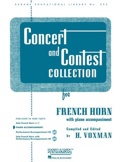 Concert and Contest Collection for Horn - Piano Accompaniment