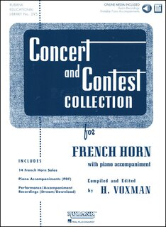 Concert and Contest Collection for Horn - Solo book + CD