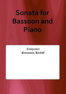 Sonata for Bassoon and Piano
