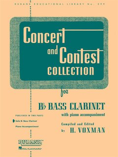 Concert and Contest Collection for Bassclarinet - Solo book