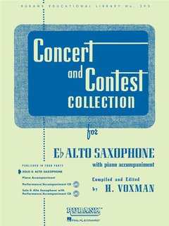 Concert and Contest Collection for Alto Saxophone - Solo book