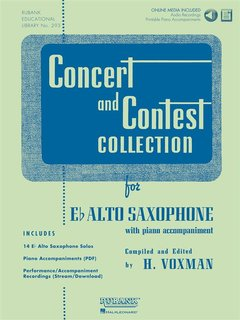 Concert and Contest Collection for Alto Saxophone - Solo book+CD