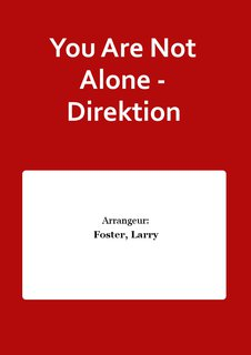 You Are Not Alone - Direktion