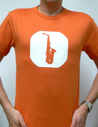 T-Shirt - Saxofon orange M