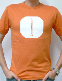 T-Shirt - Klarinette orange XL