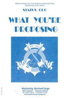 What youre Proposing - Status Quo