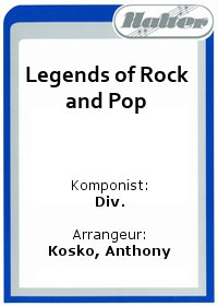 Legends of Rock and Pop